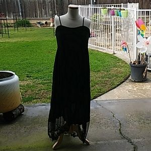 Jodifl Hi-low Maxi Strappy Dress with Lace Size L
